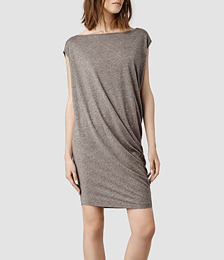 Womens Rally Tee Dress (Fawn Marl)