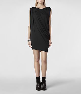 Womens Rally Tee Dress (Charcoal) - product_image_alt_text_1