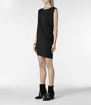 Womens Rally Tee Dress (Charcoal) - product_image_alt_text_2