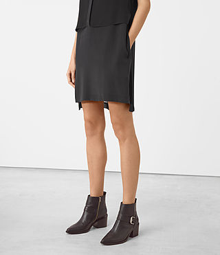 Mujer Radial Sleeveless Dr (Black) - product_image_alt_text_4