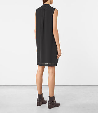 Mujer Radial Sleeveless Dr (Black) - product_image_alt_text_5