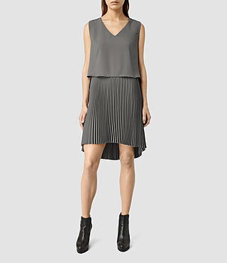 Womens Taya Dress (Slate Grey) - product_image_alt_text_1
