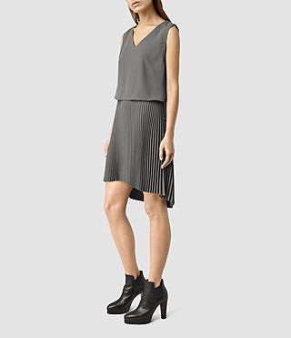 Women's Taya Dress (Slate Grey) - product_image_alt_text_2