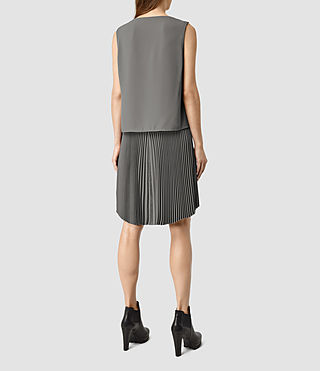 Women's Taya Dress (Slate Grey) - product_image_alt_text_3