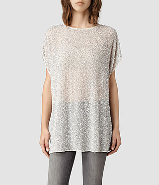 Womens Stipple Tee Dress (Oyster)