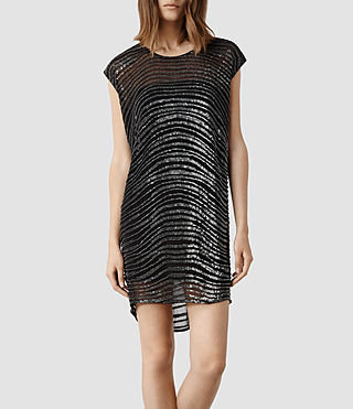 Womens Swathe Dress (Black)