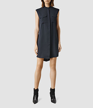 Womens Nayo Shirt Dress (Ink Blue)