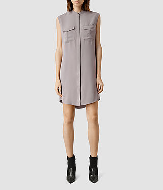 Womens Nayo Shirt Dress (MAUVE GREY)