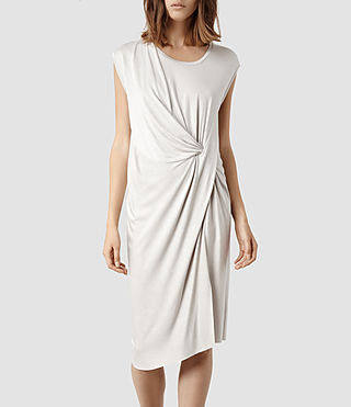 Womens Leena Vi Dress (Stone)