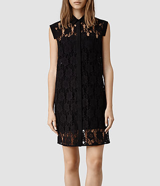 Womens Nya Lace Dress (Black)