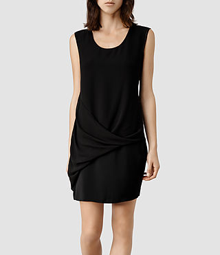 Womens Afia Dee Dress (Black/Black)