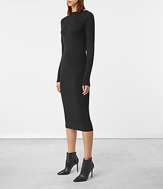 Damen Ola Dress (Cinder Black Marl) - product_image_alt_text_2