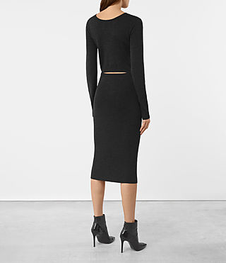 Damen Ola Dress (Cinder Black Marl) - product_image_alt_text_4