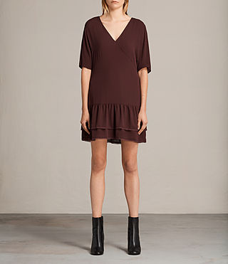 Womens Marley Dress (BORDEAUX RED) - product_image_alt_text_1