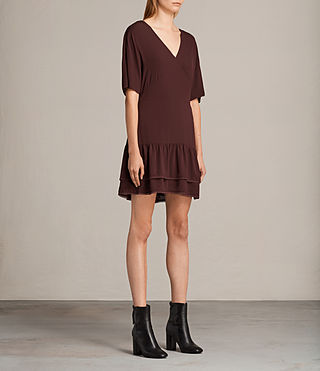 Womens Marley Dress (BORDEAUX RED) - product_image_alt_text_3