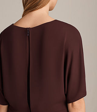 Womens Marley Dress (BORDEAUX RED) - product_image_alt_text_5