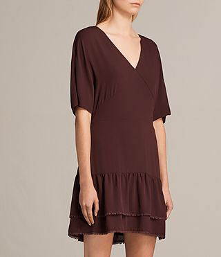 Womens Marley Dress (BORDEAUX RED) - product_image_alt_text_6