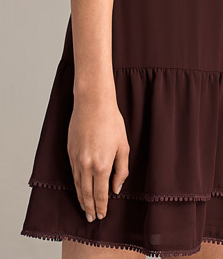 Womens Marley Dress (BORDEAUX RED) - product_image_alt_text_7