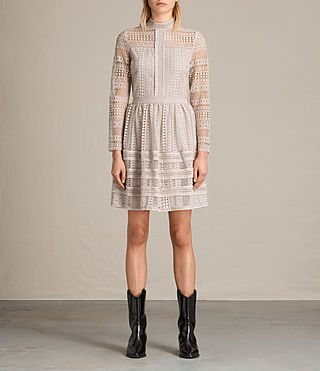 Damen Rowan Lace Dress (CHAMPAGNE PINK)