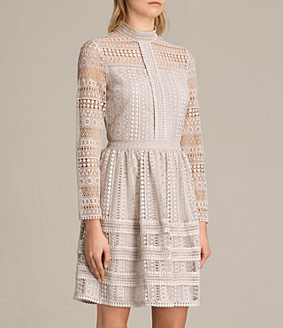 Women's Rowan Lace Dress (CHAMPAGNE PINK) - product_image_alt_text_3