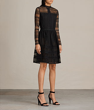 Damen Rowan Lace Dress (Black) - product_image_alt_text_3