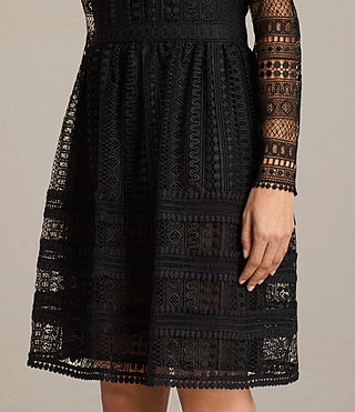 Damen Rowan Lace Dress (Black) - product_image_alt_text_6