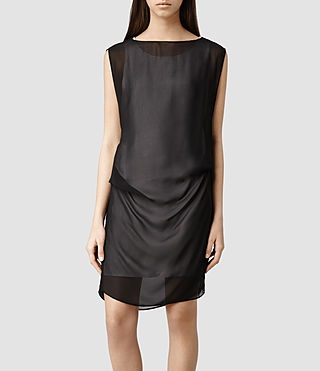 Womens Sierra Dress (Stone/Blk)