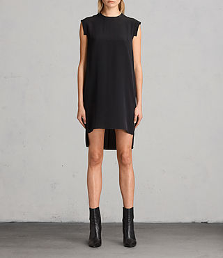 Womens Tonya Lew Silk Dress (Black) - product_image_alt_text_1