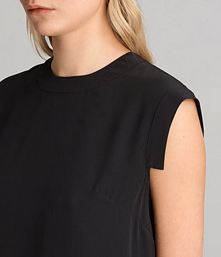 Womens Tonya Lew Silk Dress (Black) - product_image_alt_text_2