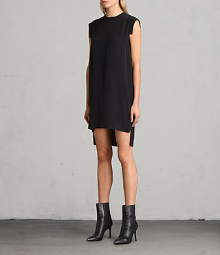 Womens Tonya Lew Silk Dress (Black) - product_image_alt_text_3