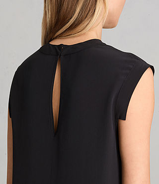 Womens Tonya Lew Silk Dress (Black) - Image 4