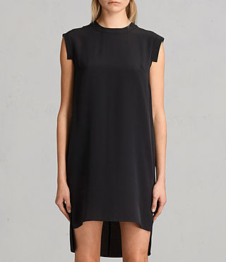 Womens Tonya Lew Silk Dress (Black) - Image 5