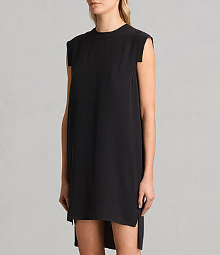 Womens Tonya Lew Silk Dress (Black) - product_image_alt_text_6