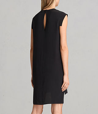 Womens Tonya Lew Silk Dress (Black) - Image 7