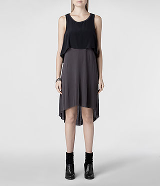 Womens Rubik Dress (Black/Charcoal) - product_image_alt_text_1