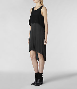 Womens Rubik Dress (Black/Charcoal) - product_image_alt_text_2