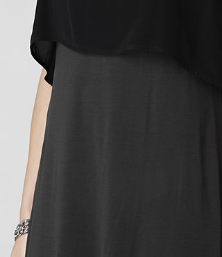 Womens Rubik Dress (Black/Charcoal) - product_image_alt_text_4