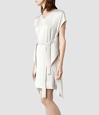Womens Greta Dress (Oyster)