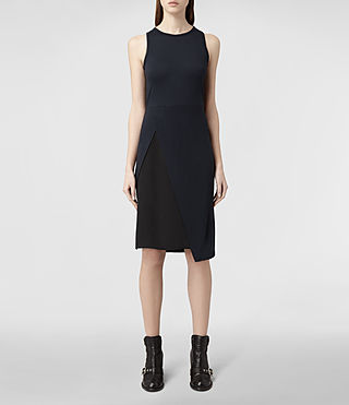 Womens Carine Dress (Black/Ink) - product_image_alt_text_1