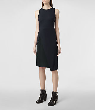 Womens Carine Dress (Black/Ink) - product_image_alt_text_2