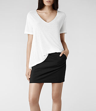 Womens Ines Dress (Chalk/Black)