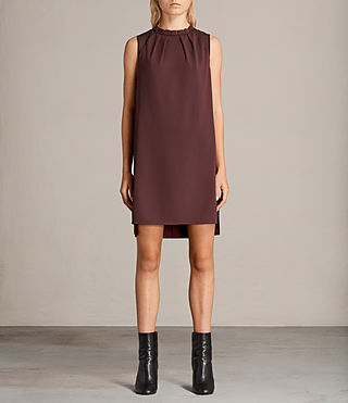 Womens Jay Dress (BORDEAUX RED) - Image 1