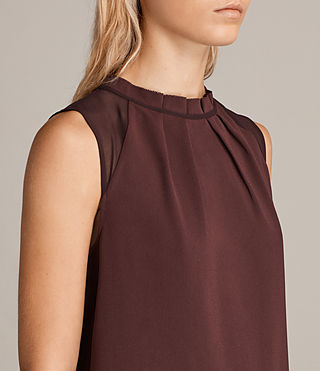 Women's Jay Dress (BORDEAUX RED) - Image 2