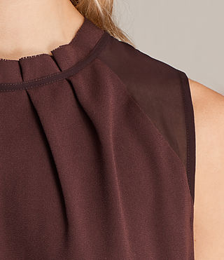 Women's Jay Dress (BORDEAUX RED) - Image 3