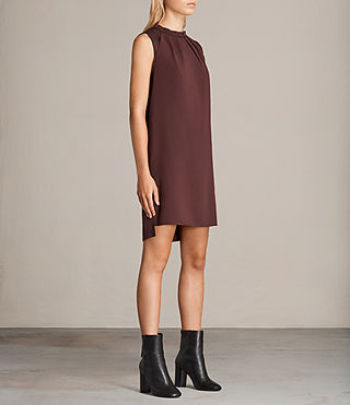 Womens Jay Dress (BORDEAUX RED) - Image 5