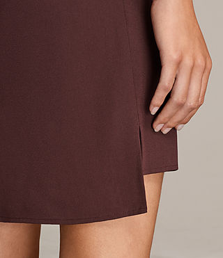 Women's Jay Dress (BORDEAUX RED) - Image 6