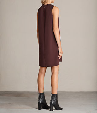 Women's Jay Dress (BORDEAUX RED) - Image 7