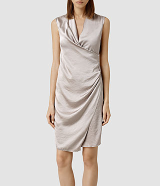 Womens Arina Dress (Opal Grey)