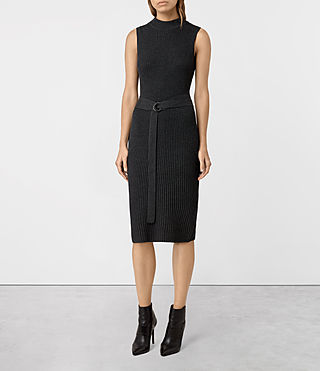 Womens East Dress (Charcoal Grey) - product_image_alt_text_1