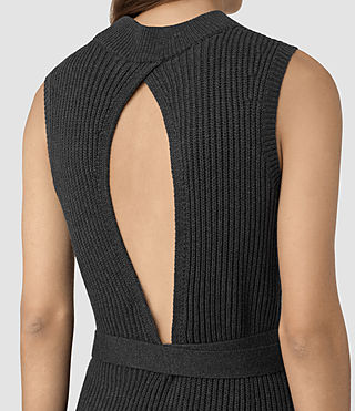 Womens East Dress (Charcoal Grey) - product_image_alt_text_2